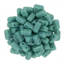 Czechmates Brick Beads 6x3mm - Perisan Turquoise - 50 beads