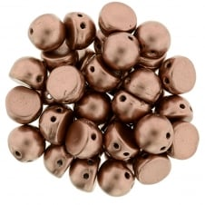 Czechmates Cabochon Beads 7mm - Matte Metallic Bronze Copper - 5g