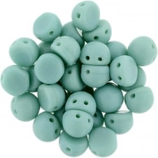 Czechmates Cabochon Beads 7mm - Opaque Green Turquoise - 5g