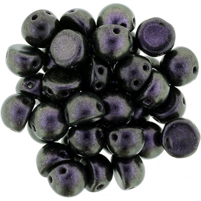 Czechmates Cabochon Beads 7mm - Polychrome Black Currant - 5g
