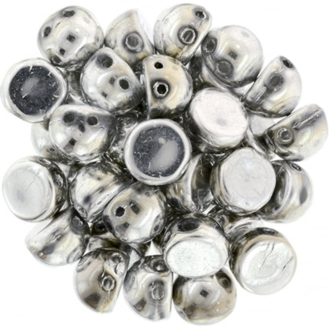 Czechmates Cabochon Beads 7mm - Silver - 5g