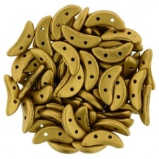 Czechmates Crescent Beads 3x10mm - Matte Metallic Antique Gold - 5g