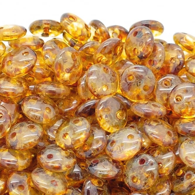 CzechMates Lentil Beads 6mm - Crystal Picasso - 50pk
