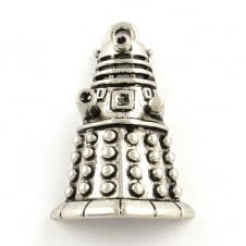 Dalek Metal Charm 30x20mm - Antique Silver Plated - 1pk