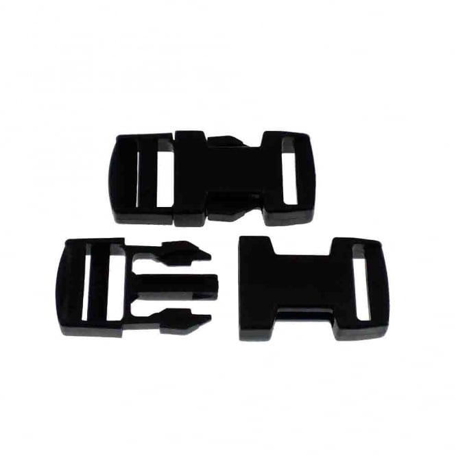 Delrin Side Release Plastic Buckle Clips 20mm - 1pk