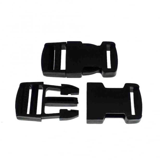 Delrin Side Release Plastic Buckle Clips 25mm - 1pk