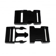 Delrin Side Release Plastic Buckle Clips 40mm - 1pk
