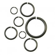 Black Plated Jump Rings