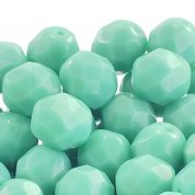 8mm Czech Glass Faceted Round Beads