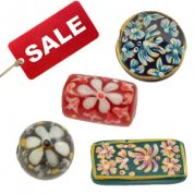 Hand Painted Glass Beads