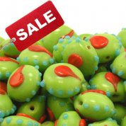 Indian Lampwork Spotty Glass Beads