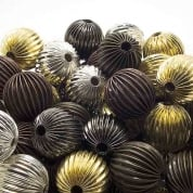 Fluted Metal Beads