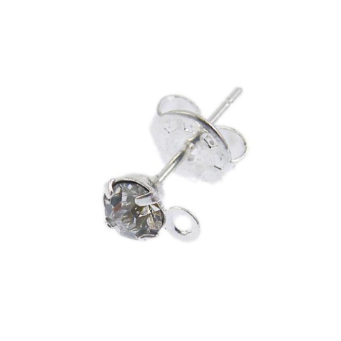 diamante stud earring with loop the bead shop uk