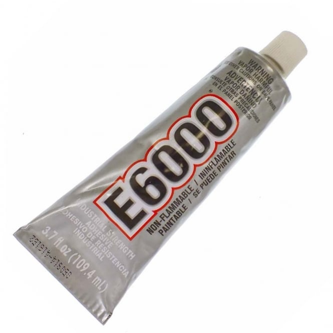 E6000 Industrial Strength Clear Glue - 109.4ml/3.7oz - Includes Nozzle