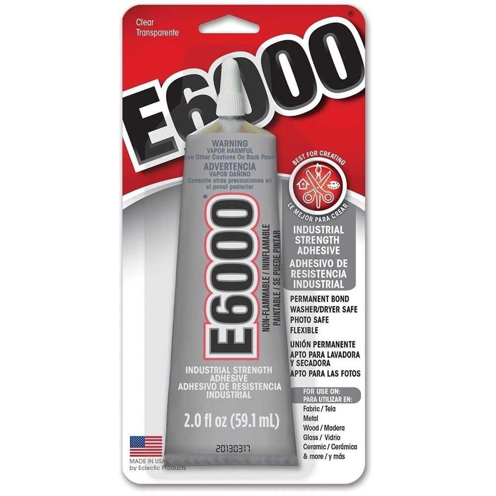 Industrial Strength E6000 Clear Glue 60ml 2oz Beads