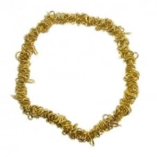 Elasticated Charm Bracelet With Jump Rings - Gold Plated - 1pk