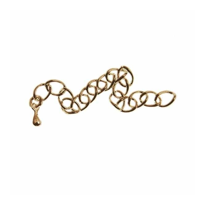 Extension Chain With Tear Drop - Antique Brass Plated - 10pk
