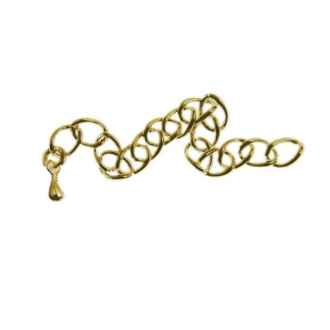 Extension Chain with Tear Drop - Gold Plated - 10pk