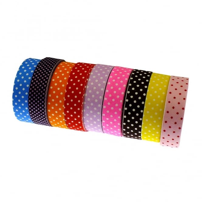 Fabric Washi Tape Mix - Polka Dot Print - 5 Rolls