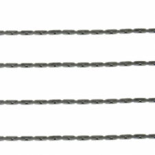 Fine Crimpable Chain - Black Plated - 1m