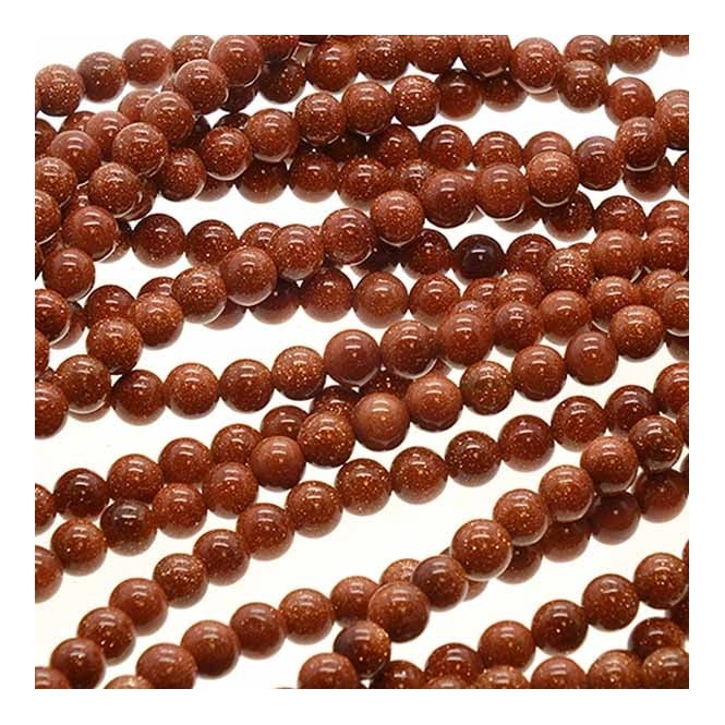 "Goldstone Round Beads 6mm - 15.5"" Strand"