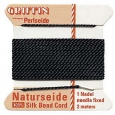 Griffin Silk Bead Cord - No 2 (0.45mm) - Black