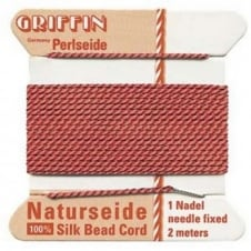 Griffin Silk Bead Cord - No 4 (0.6mm) - Coral