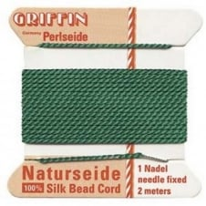 Griffin Silk Bead Cord - No 4 (0.6mm) - Green