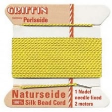 Griffin Silk Bead Cord - No 4 (0.6mm) - Yellow