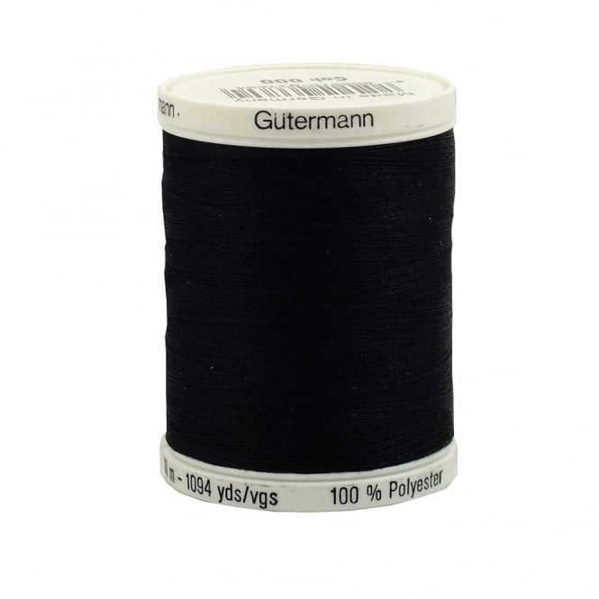 Gutermann Sew All Polyester Thread 1000m - Colour 000 - Black