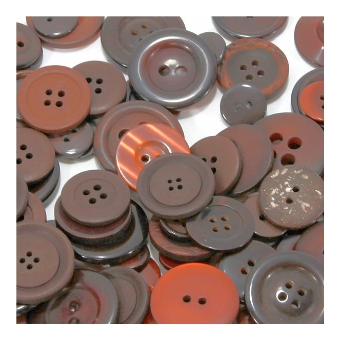 High Quality Plastic Button Mixes - Brassed Off - 30g