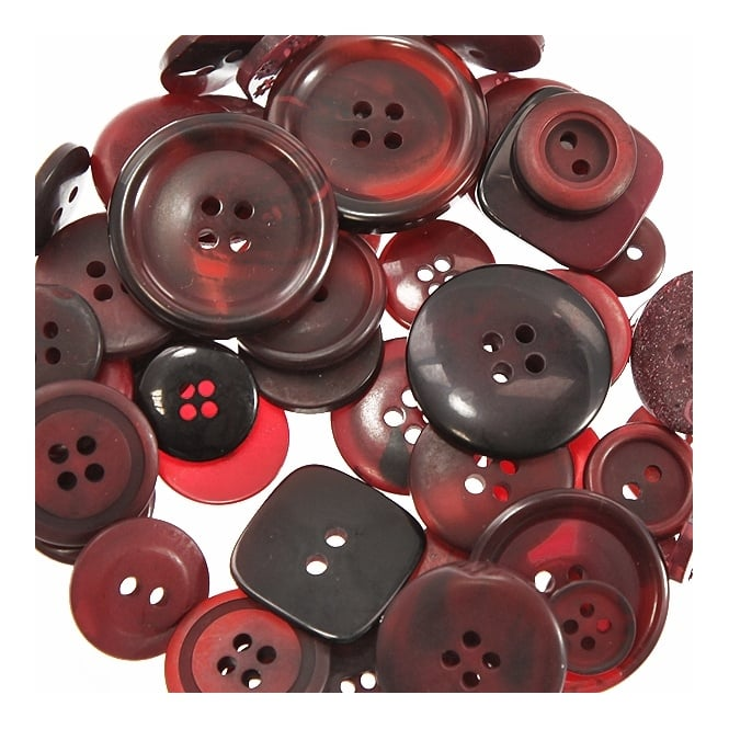 High Quality Plastic Button Mixes - Very Berry - 40g
