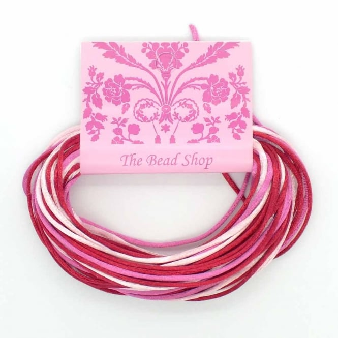 Kumihimo - 1.5mm Rattail Colour Mix (12m pk) - Raspberry Ripple