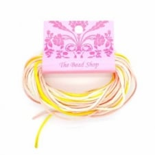 Kumihimo - 1.5mm Rattail Colour Mix (12m pk) - Sherbert