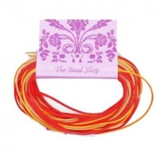 Kumihimo - 1mm Rattail Colour Mix (12m pk) - Fiery Embers