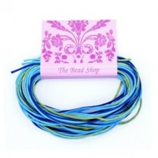 Kumihimo - 1mm Rattail Colour Mix (12m pk) - Mermaid Lagoon