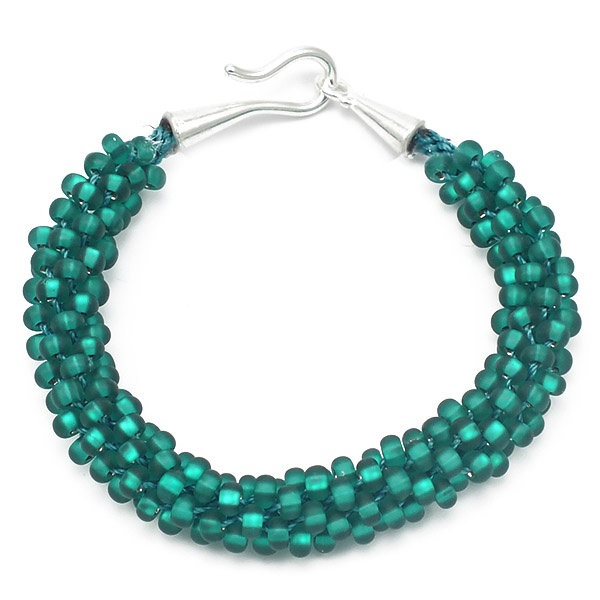 kumihimo bracelet kit teal seed the bead shop