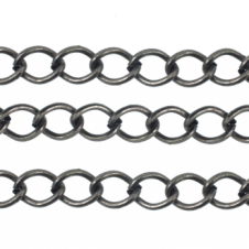 Large Curb Chain - Antique Silver Plated - 1m