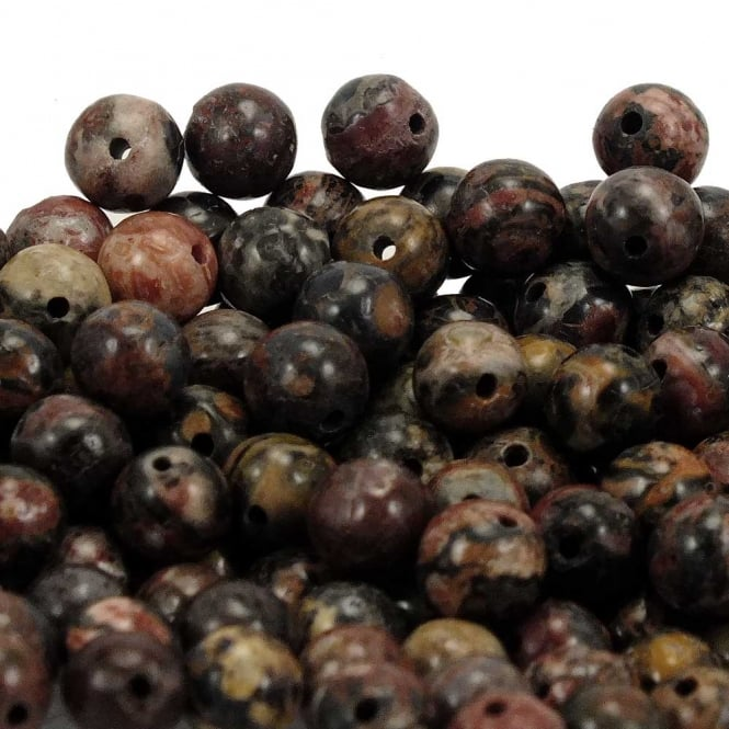 Leopardskin Rhyolite Round Gemstone Beads 4mm - 20pcs