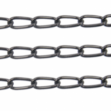 Long Curb Chain 12x5mm - Black Plated - 1 metre