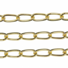 Long Curb Chain 12x5mm - Gold Plated - 1 metre