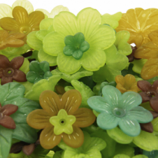 Lucite Flowers & Leaves Mix - Woodland Mix - 20g
