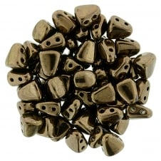 Matubo Nib-Bit Glass Beads 6x5mm - Dark Bronze - 5g