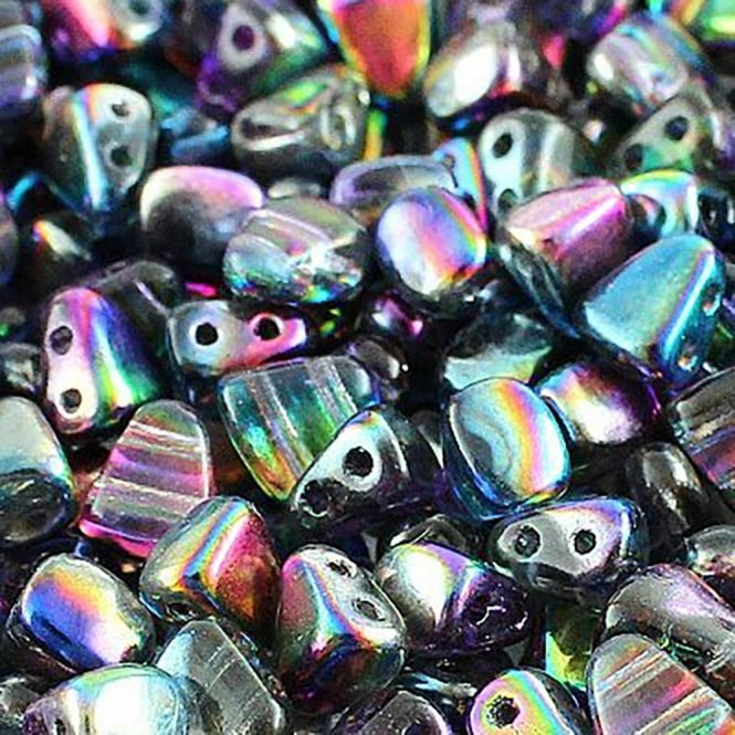 Matubo Nib-Bit Glass Beads 6x5mm - Magic Blue Pink - 5g