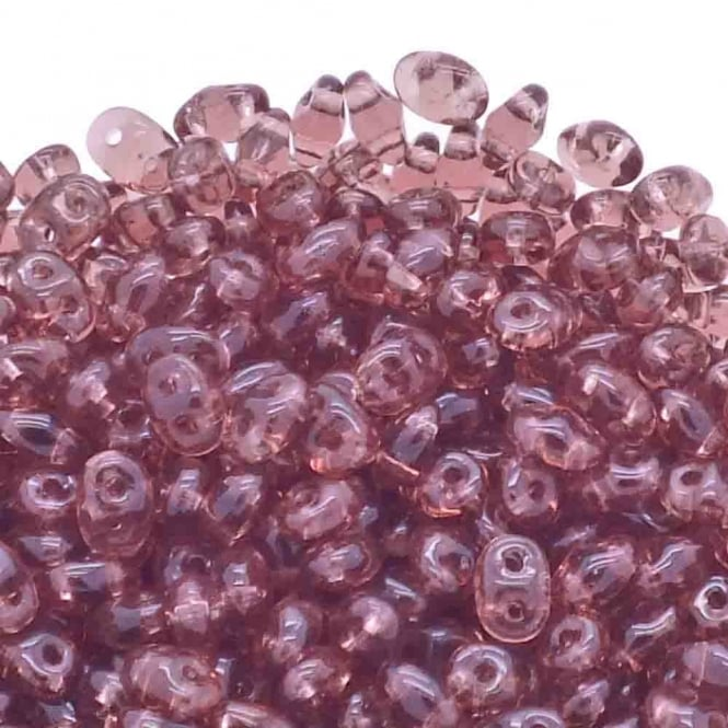 Matubo SuperDuo Czech Beads 2.5x5mm - Amethyst - 10g