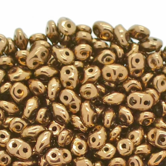 Matubo SuperDuo Czech Beads 2.5x5mm - Bronze - 10g