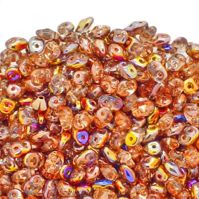 Matubo SuperDuo Czech Beads 2.5x5mm - Sliperit Crystal - 10g