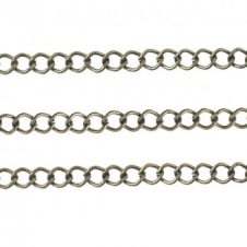 Medium Curb Chain 5x7mm - Antique Brass Plated - 1 metre