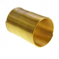 Memory Wire Ring - Gold Plated - 1pk (48 Loops)
