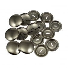 Metal Self Cover Buttons 38mm - 5pk